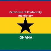 Certificate of conformity Ghana