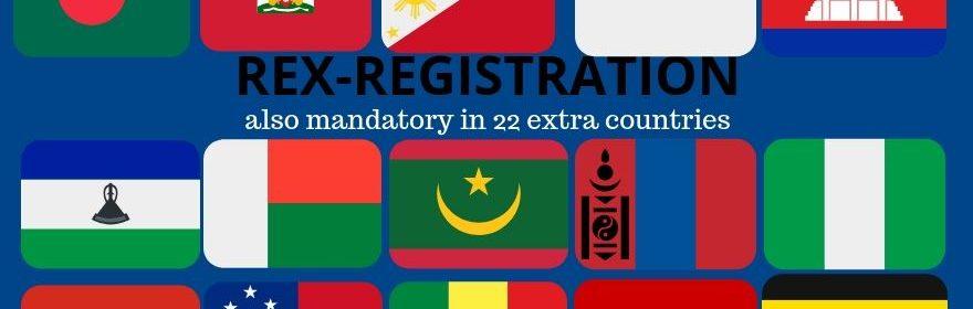 REX mandatory in 22 countries